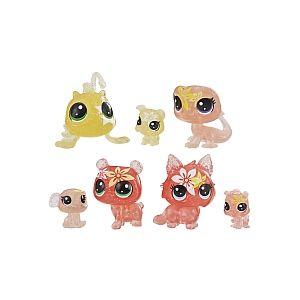 Hasbro Littlest PetShop - Jardin Enchanté - Tube 7 PetShop Minis & Teensies - Lis Tigré