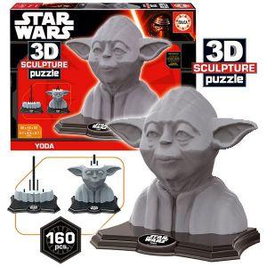 Educa Puzzle Star Wars 3D Sculpture Yoda (160 pièces)
