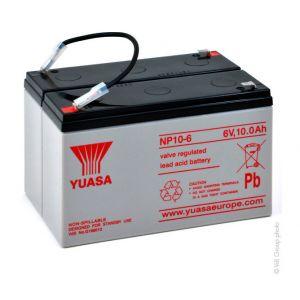 Yuasa Batterie plomb AGM NP10-12 12V 10Ah F4.8