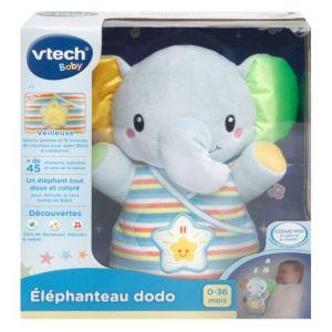 Vtech Peluche lumineuse Éléphanteau Dodo Vtehc Baby Bleue