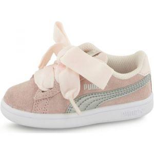 Puma Smash V2 Ribbon AC Inf, Sneakers Basses mixte bébé, Rose (Pearl Silver), 27 EU