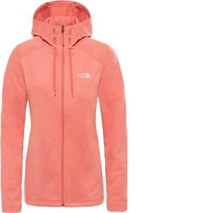The North Face Sweatshirts Tech Mezzaluna Hoodie - Spiced Coral White Heather - Taille XS