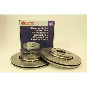 Klaxcar KLAXCAR Lot 2 Disques de frein - Pour Dacia Duster / Renault Fluence, Laguna III, Megane