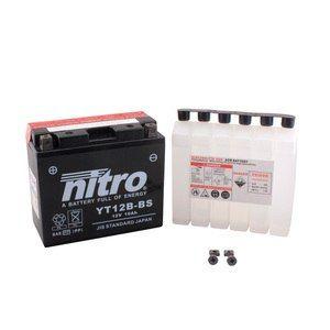 Nitro YT12B-BS -N- Batterie Moto AGM Ouvert avec Pack Acide