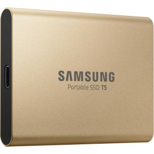 Samsung Disque SSD externe Portable SSD T5 500Go Or