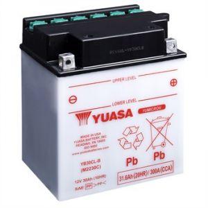 Yuasa BATTERIE YB30CL-B L 168mm W 132mm H 192mm Batterie identique à l'origine convient à tous types de 2 roues et quad. Les batteries reconnu pour sa qualité de produit et une durée de vie exceptionnelle. Choisir c'est opter pour la