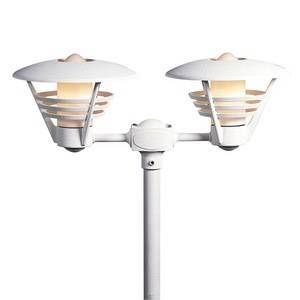 Konstsmide Lampadaire extérieur Gemini Blanc, 2 lumières Moderne/Classique Extérieur Gemini