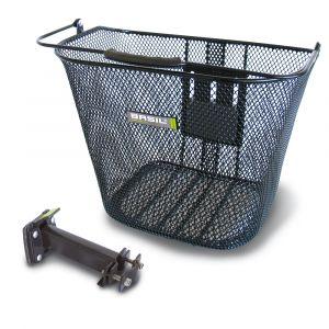 Basil BAS10160 Panier avec un système de fixation avant pour vélo Adulte, mixte Noir