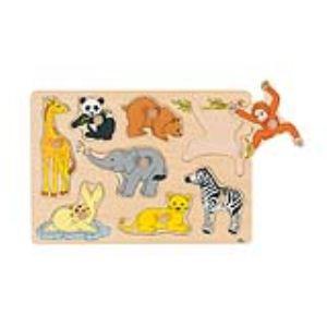 Goki 57906 - Puzzle à encastrements Bébés animaux 8 éléments