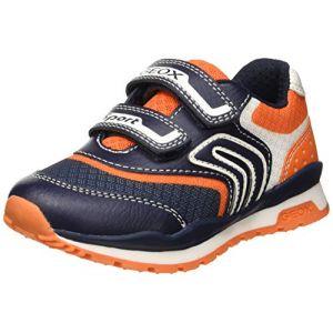 Geox J Pavel a, Sneakers Basses garçon, (Navy/Orange C0659), 27 EU