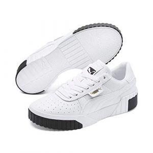 Puma Cali Wn's, Baskets Basses Femme, Blanc (White Black 04), 36 EU