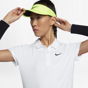 Nike Polo de tennis Court Pure Femme - Blanc - Taille L - Female