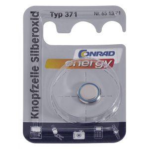 Conrad Pile bouton oxyde d'argent 371 1 pc(s) X39249