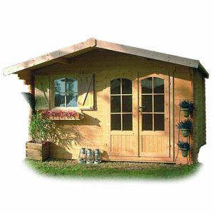 Solid S8982 - Abri de jardin Chamonix 2 en bois 40 mm 10,99 m2