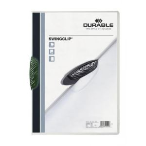 Durable 2260-05 - Chemise à clip SWINGCLIP, clip vert, A4