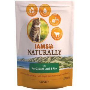 IAMS Naturally Croquettes Agneau Nouvelle-Zélande & Riz - Toutes races - 270 g - Pour chat adulte