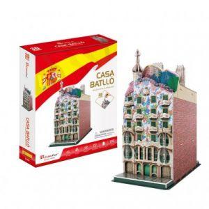 CubicFun Casa Batlló - Difficulté: 4/8 - Puzzle 3D 68 pièces