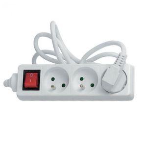 Electraline Multiprise 3 prises 16A avec interrupteur