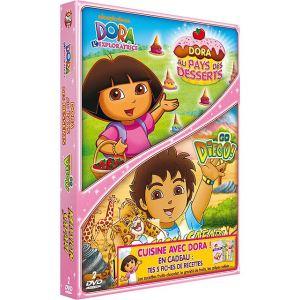 Coffret Dora l'exploratrice : Dora et la fête des desserts + Go Diego ! - Volume 3 : Mission Safari !