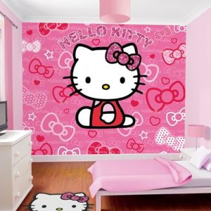 "Walltastic Papier peint ""Hello Kitty"" (244 x 305 cm)"