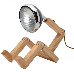 La Chaise Longue Mister Woody - Lampe de bureau articulée Bonhomme