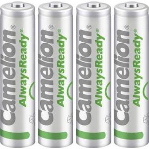 Image de Camelion Always ready - Lot de 4 piles solaires rechargeables micro (AAA, Ni-MH 600 mAh)