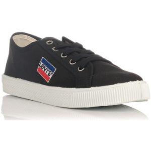 Levi's Sportswear Malibu, Baskets Homme, Noir (Noir Regular Black), 45 EU (10.5)