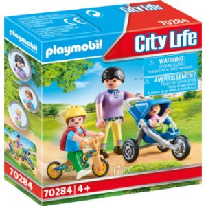 Playmobil City Life Figurine Maman et enfants 70284