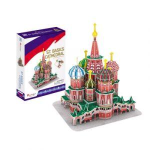 CubicFun Cathédrale Saint-Basile-le-Bienheureux de Moscou, Difficulté: 4/8 - Puzzle 92 pièces