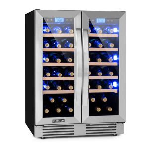 Klarstein Vinovilla Duo42 - Cave à vin 2 zones 126 l 42 bouteilles