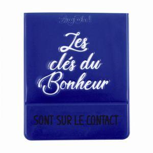 1 Porte Vignette Assurance Zigoh Les Clés Du Bonheur Violet