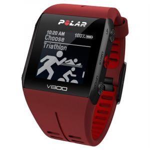 Polar Montre cardio multisports v800 ceinture cardiaque rouge