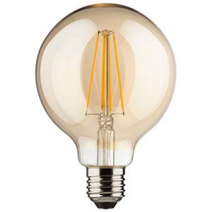 Müller-Licht 400204 A + +, rétro lampe LED Mini Globe équivalent 60 W, verre, 8 W, E27, doré, 9,5 x 9,5 x 14 cm
