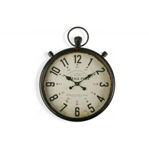 Versa : Horloge Murale Métal Noir 60x44cm TAC