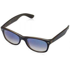 Ray-Ban New wayfarer color mix Sunglasses Verres: Bleu, Monture: Bleu - RB2132 63083F 55-18