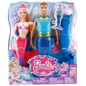 Mattel barbie sir ne et son prince ken triton comparer avec - Barbie barbie sirene ...
