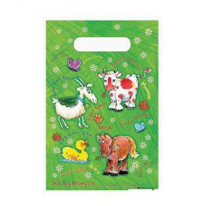 Ptit Clown re84306 - 6 sachets en plastique animaux