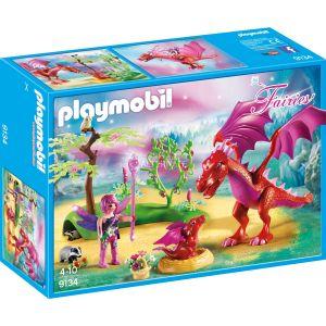 Playmobil 9134 Fairies - Gardienne des Fées avec dragons