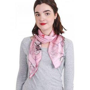 Allée du foulard Carré de soie Premium Cotonnade Rose