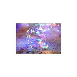 Guirlande solaire 75 micro LED multicolore L 7,5 m