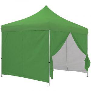 Greaden Tente pliante verte avec 4 murs amovibles 3x3m Eco