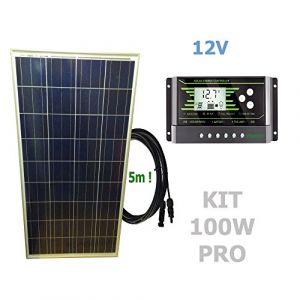 Viasolar Kit 100W PRO 12V panneau solaire