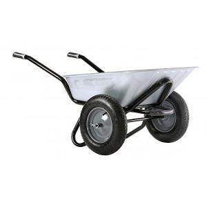 Haemmerlin 308204101 - Brouette Aktiv Excellium Twin galva roues gonflées 100 L