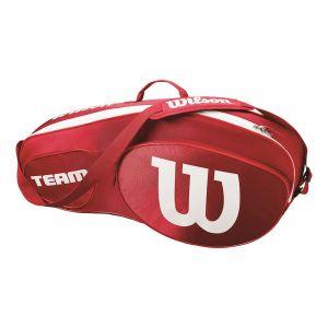 Wilson Sac de Tennis Unisexe Pour les joueurs de tous niveaux Team III 3 PK Taille Unique Rouge/Blanc WRZ857803