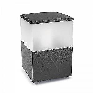 Led C4 leds c4 Borne Cubik, aluminium et polycarbonate, gris urbain