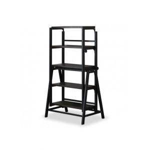 Table / Bibliot que transformable gain de place Clever Noir