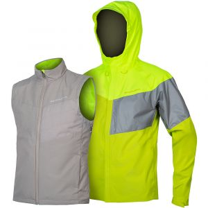Endura Urban Luminite II Veste 3 En 1 Homme, neon yellow XL Vestes imperméables