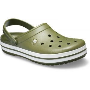 Crocs Crocband - Sandales - blanc/olive 46-47 Sandales Loisir