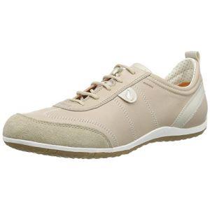 Geox D Vega A, Sneakers Basses femme, Beige (C6738), 41 EU