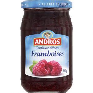 Andros Confiture extra de framboise allégée en sucre - Le bocal de 350g